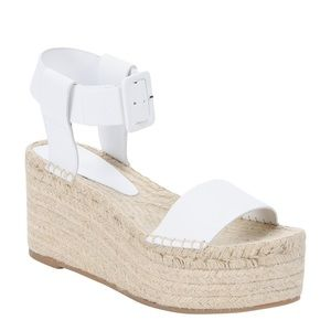 Vince white leather platform espadrilles size 39
